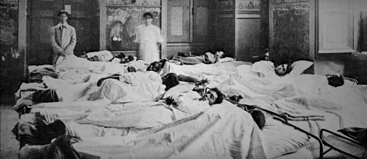 Hospital durante a Gripe Espanhola